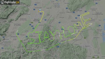 A pilot wrote a coronavirus message in the sky — 'Stay Home'