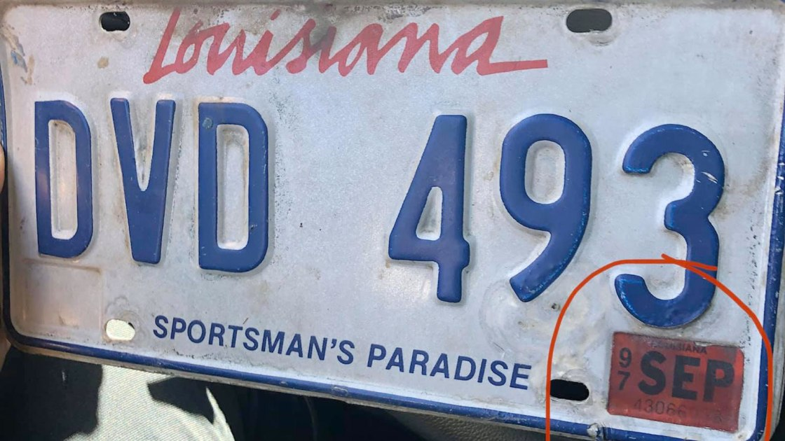 A driver was pulled over with expired 1997 license plate tags. He says he's been busy