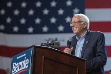 Nazi flag waved by a man at a Bernie Sanders event sparks outcry