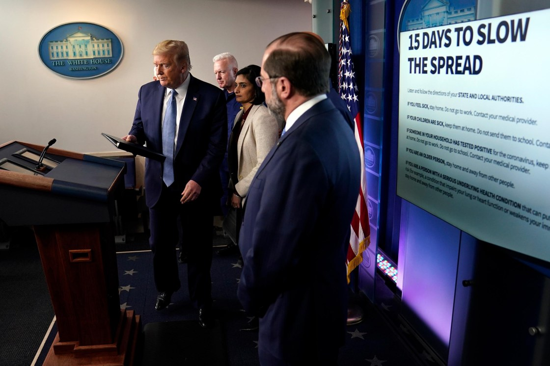 Trump administration contingency planning for coronavirus lasting '18 months or longer'