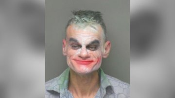 Man in Joker makeup accused of making terrorist threats