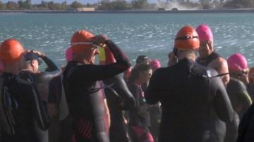 Competitors Brave Windy Conditions at Desert Triathlon