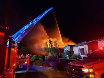 Fire Damages Home in Indio, No Injuries Reported