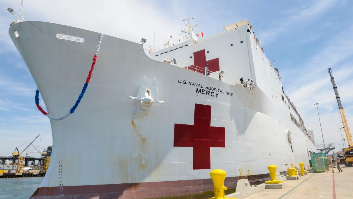 Seven Crew Members on Navy Hospital Ship Test Positive
