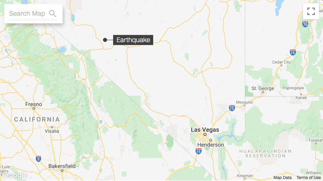 Magnitude 6.5 Earthquake Strikes Nevada Near California Border