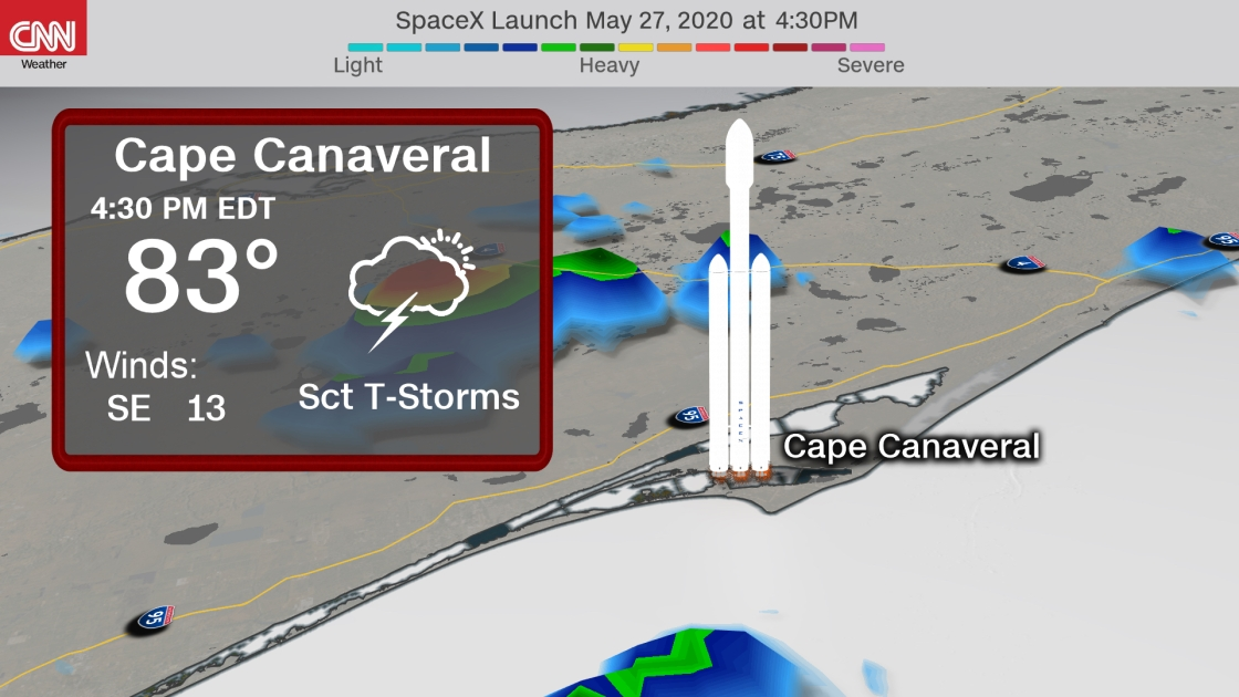 SpaceX Launch Canceled Due To Bad Weather