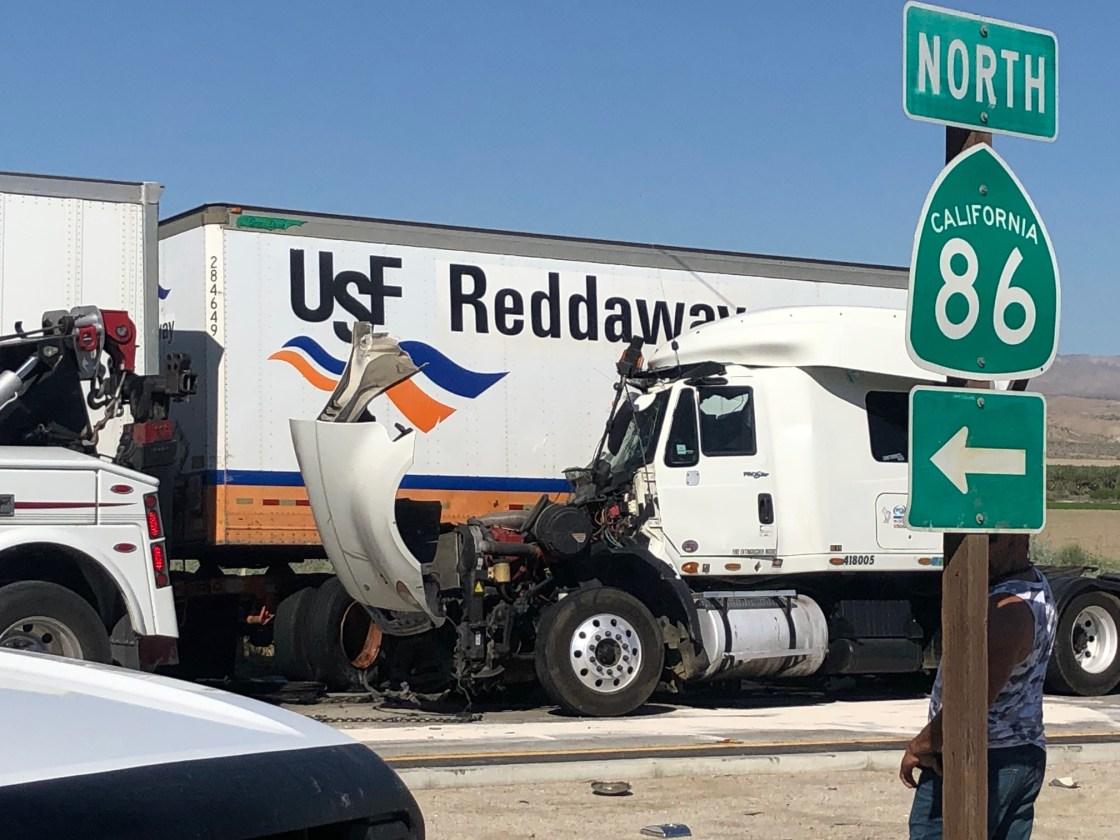 Big Rig Crash Causes Major Traffic Delay in Coachella