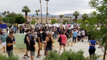 Hundreds Gather in Palm Desert to Protest Police Brutality