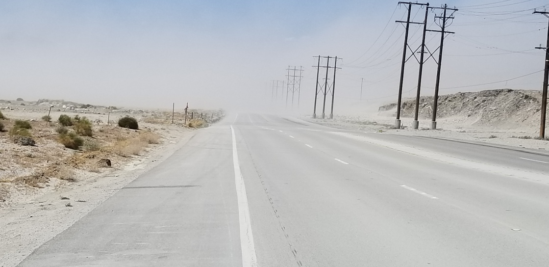Indian Canyon and Gene Autry closed due to wind, sand