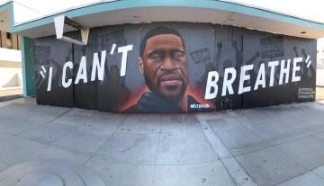 George Floyd Mural Installed in Downtown Palm Springs