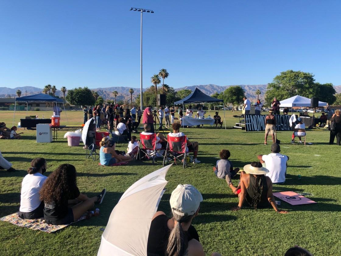 Vigil in Indio Honors George Floyd