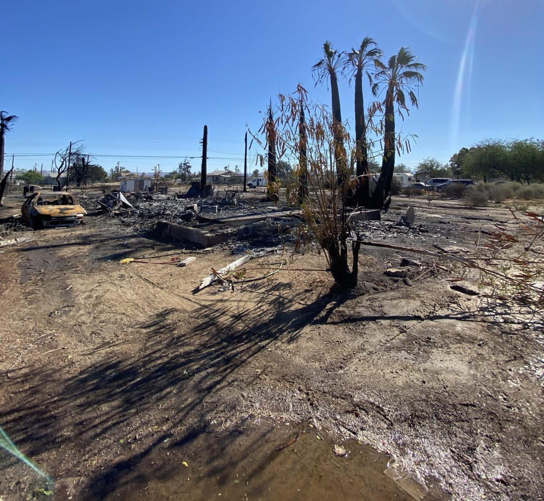 Firefighters Contain Brush Fire that Destroyed 40 Homes in Niland