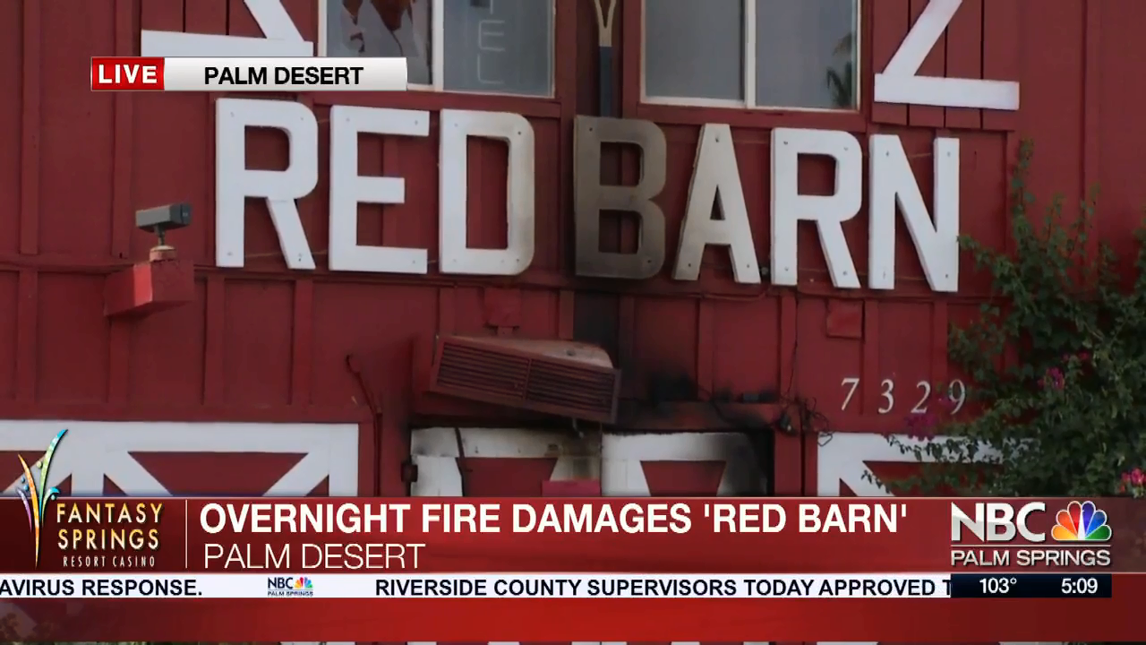 Fire-damaged Red Barn Bar in Palm Desert Will Be Rebuilt, Owner Says