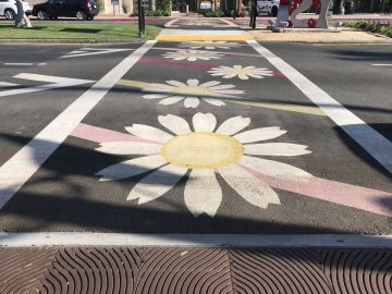 El Paseo's Unpopular, Colorful Crosswalks Will Be Removed