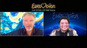 "Pierce Brosnan, Dan Stevens Talk About ""Eurovision Song Contest"""