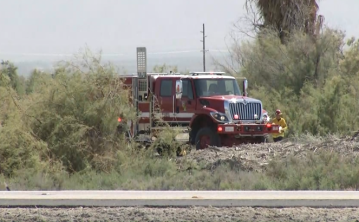 Brush Fire Burns near Salton Sea