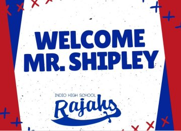 Ron Shipley Joins Indio High School as Athletic Director