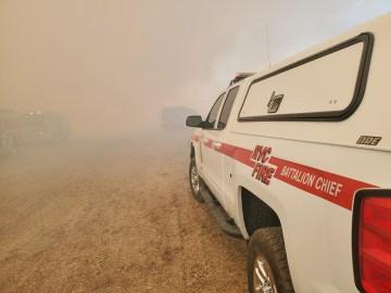 Crews battling brush fire in Thermal