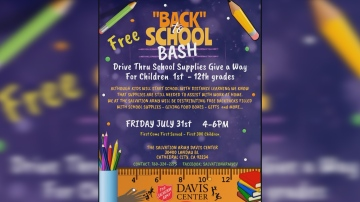 The Salvation Army Hosts Back To School Bash Drive-thru Style