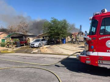 Fire Damages Two Homes in Desert Hot Springs