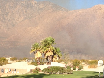 Brush fire in Palm Springs 100% Contained