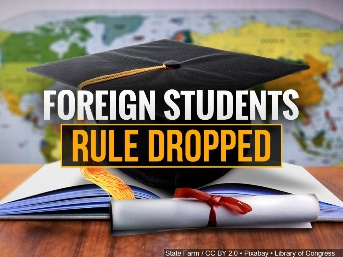 Trump administration drops restrictions on online-only instruction for foreign students