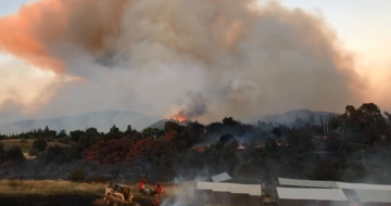 Crews battle Cherry Valley fire Friday night