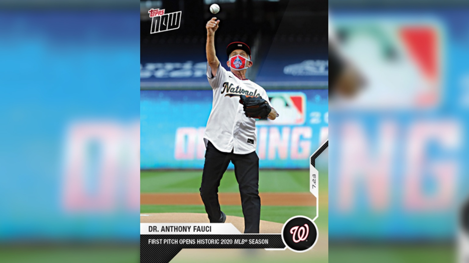 Dr. Anthony Fauci's baseball card just became one of the best selling in Topps' history