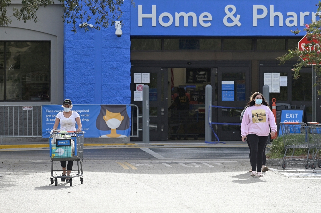Walmart, Kroger will start requiring customers in US stores to wear masks