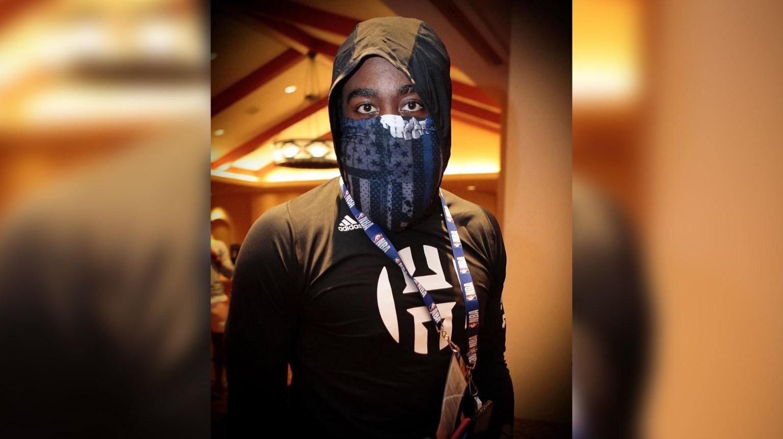 NBA star James Harden criticized for wearing Blue Lives Matter face mask