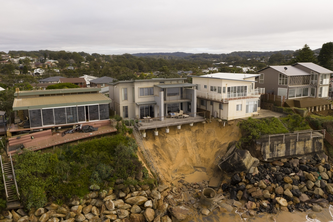 Luxury homes in Australia are falling into the ocean due to coastal erosion