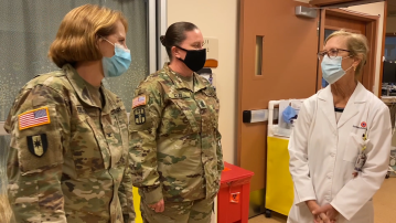 Military Team On the Ground at Rancho Mirage Hospital to Help with COVID Surge