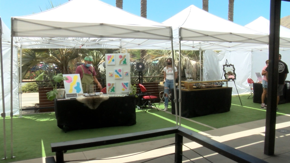 Outdoor Art Walk Hosted for Local Vendors