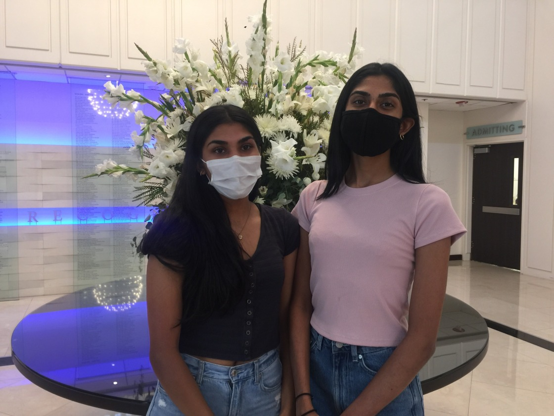Teen Sisters Raise Thousands to Protect Local Health Care Workers