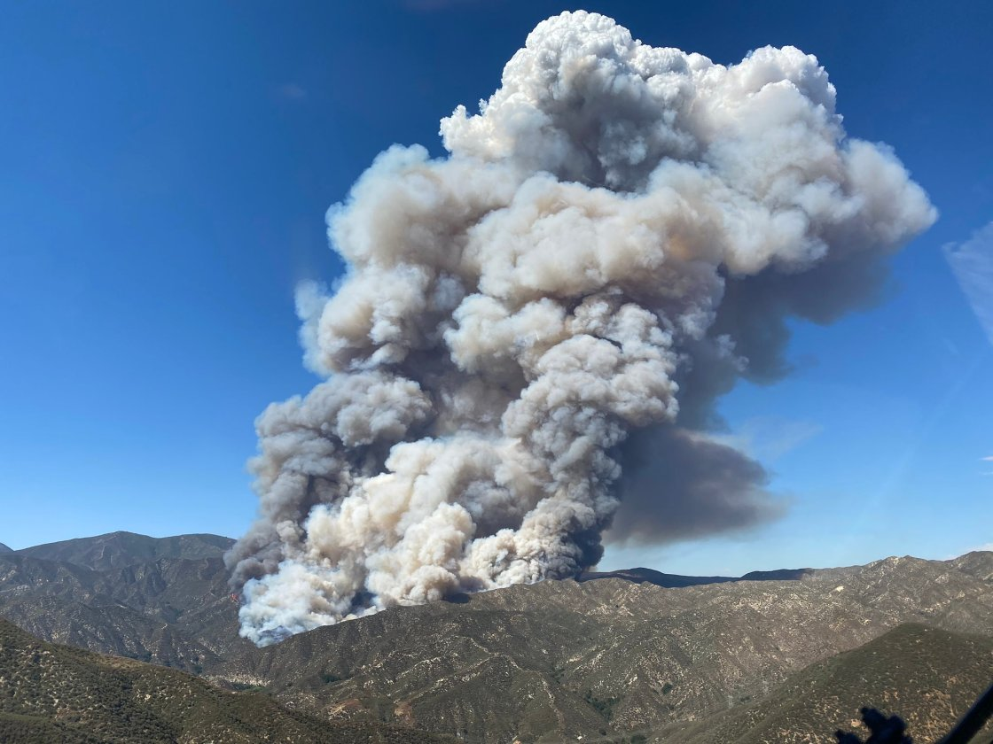 Firefighters Battle for Control of Lake Hughes Fire
