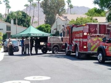Possibly Armed Suspect Barricaded in Palm Desert Home