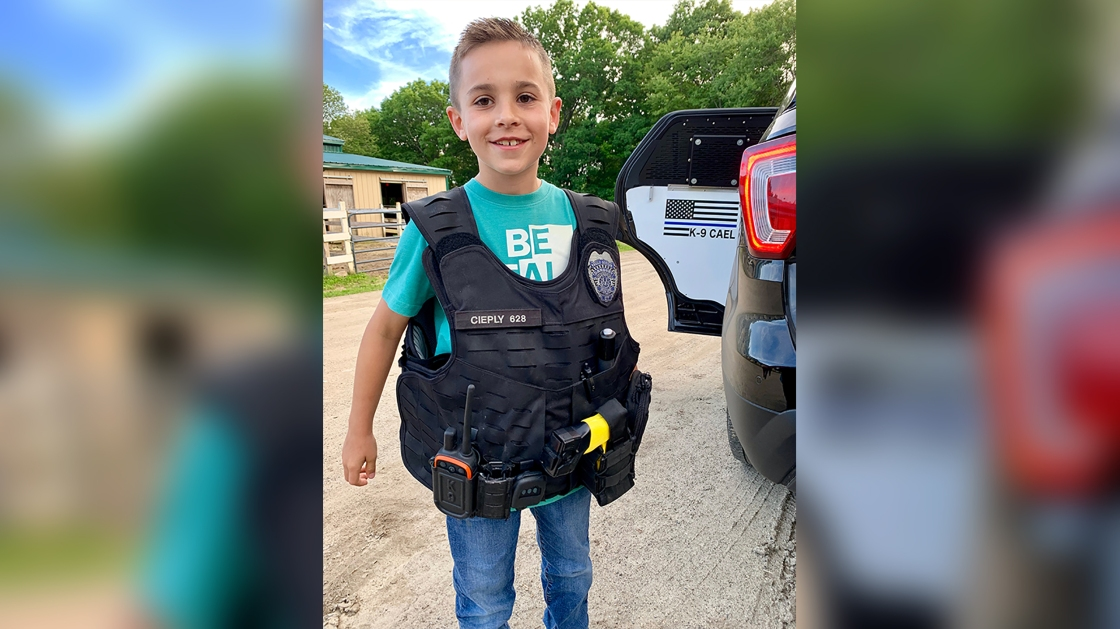 A 10-year-old Ohio boy has raised over $315,000 to provide bulletproof vests for police dogs