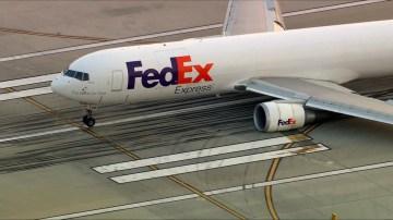 FedEx cargo jet makes pre-dawn emergency landing in Los Angeles