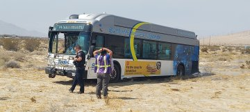 Man steals Sunline bus, leads police on pursuit and crashes