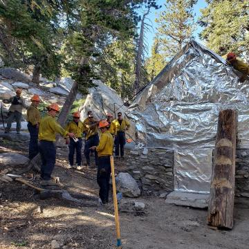 Firefighters save 1930's Ranger Station on Mt. San Jacinto
