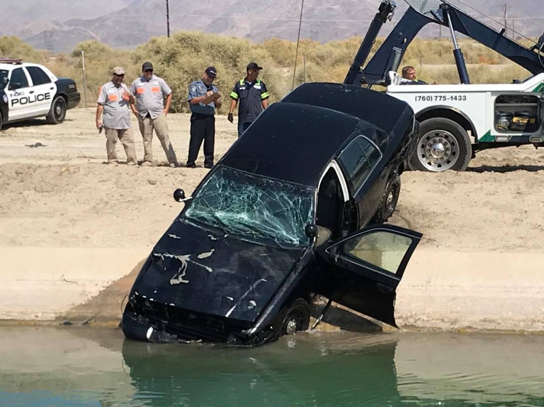 Car Recovered from Canal in Coachella