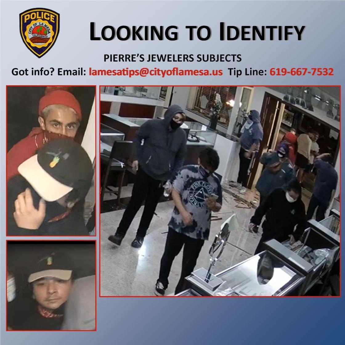 Police Seek Tips On Looting Of La Mesa Jewelry Store
