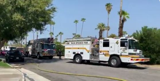 Firefighter, Resident Injured During Palm Springs Home Fire