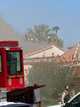 Home in Parkview Villas in Rancho Mirage Catches Fire