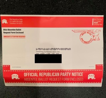 Palm Springs man receives absentee ballot request form from Ohio, questions voter fraud