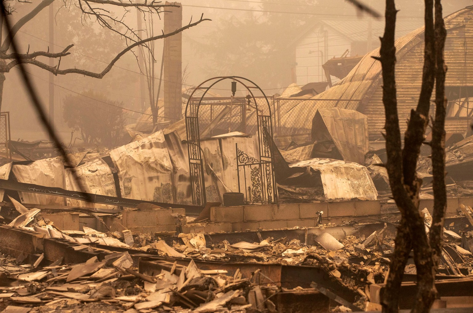 Wildfire evacuee returns home to find barn destroyed but animals alive