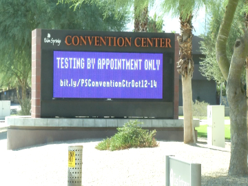Free Coronavirus Testing At Palm Springs Convention Center Begins Tuesday