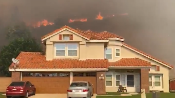 Wind-Driven Blaze on West End of Corona Spreads Into Orange County