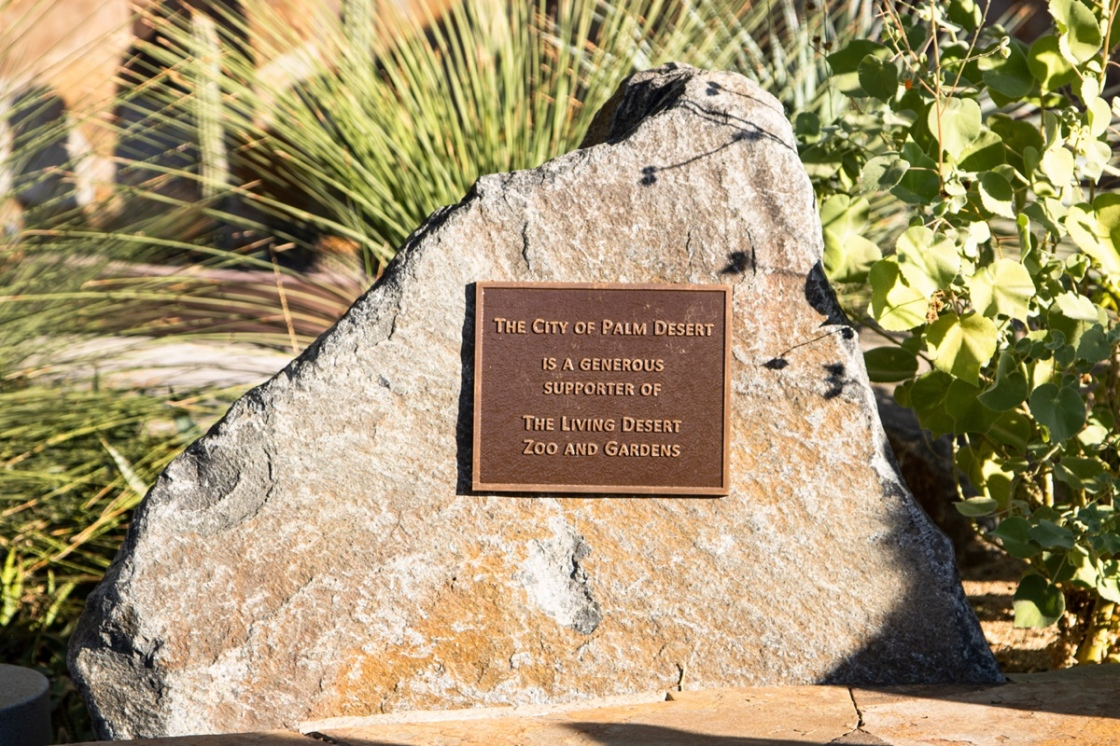 The Living Desert Recognizes the City of Palm Desert with Commemorative Plaque