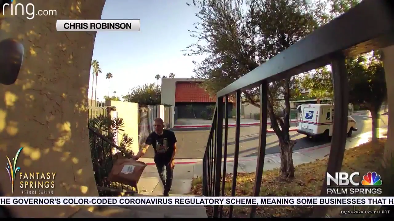 Caught on Cam: USPS Driver Tosses Package on Doorstep, Package Stolen an Hour Later